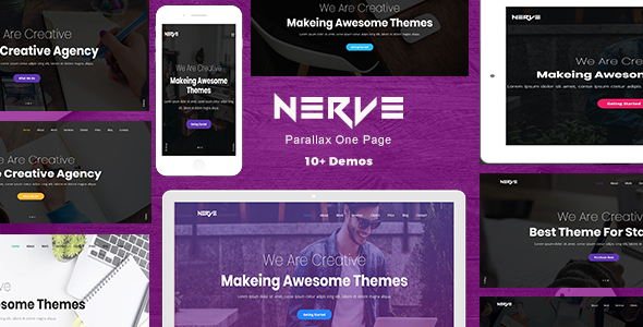 Nerve - Parallax One Page - Creative Site Templates