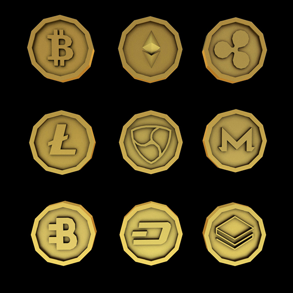 Crypto Coins - 3DOcean Item for Sale