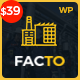 Facto - Industrial Business WordPress Theme - ThemeForest Item for Sale
