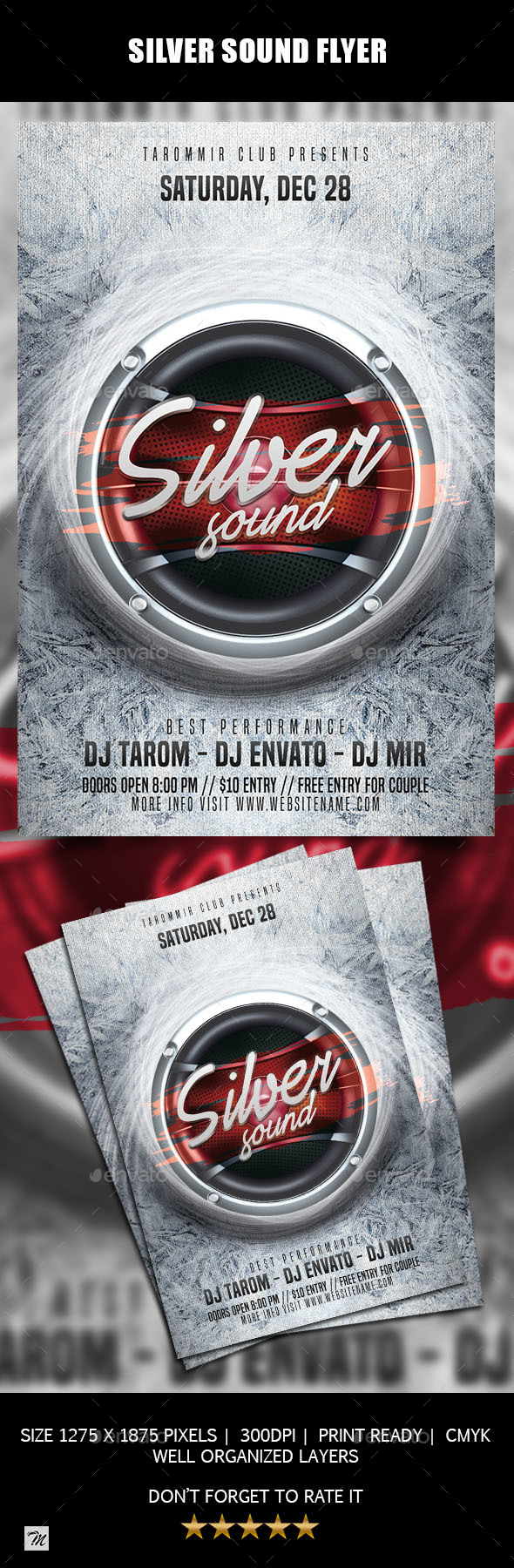 GraphicRiver Silver Sound Flyer 21022692