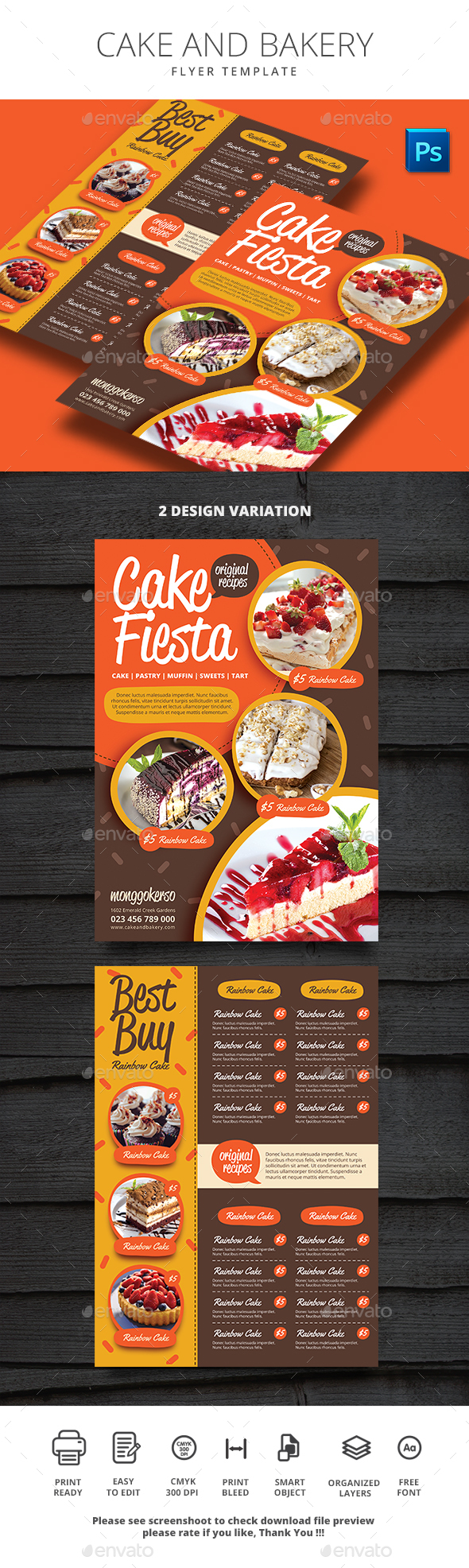 GraphicRiver Cake and Bakery 21022821