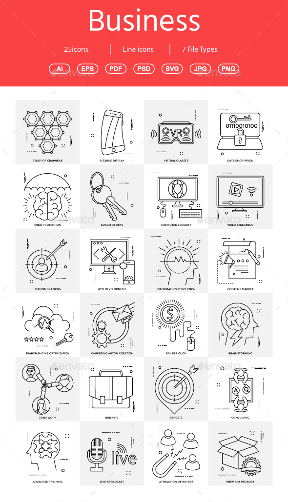 15+ Vector Business Illustration vol 10 - Business Icons