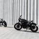 two motocycles in front of the wall - PhotoDune Item for Sale
