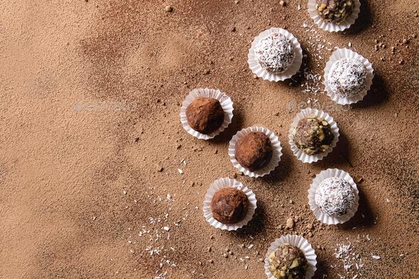 Handmade chocolate truffles - Stock Photo - Images