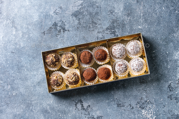 Handmade chocolate truffles - Stock Photo - Images