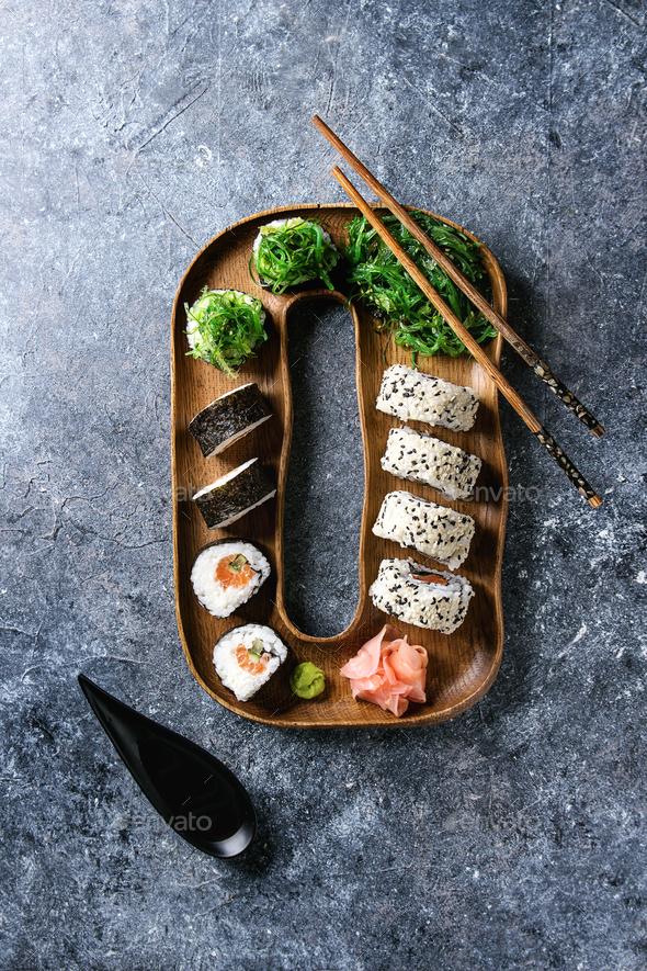 Sushi rolls set - Stock Photo - Images