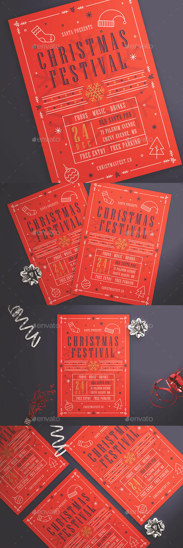 Christmas Festival Flyer - Events Flyers