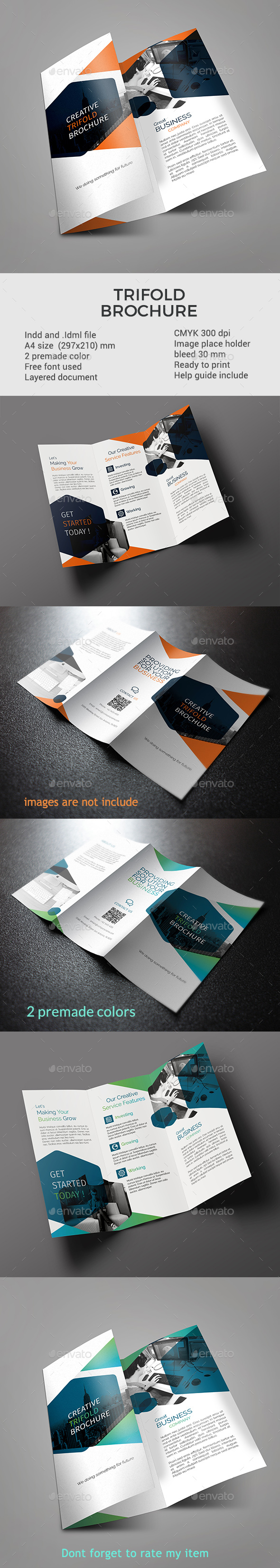 GraphicRiver corporate trifold brochure 21023256