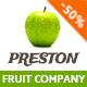 Preston | Fruit Company & Organic Farming - ThemeForest Item for Sale