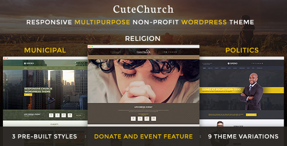 Religion & Political — CuteChurch WP Theme - Nonprofit WordPress