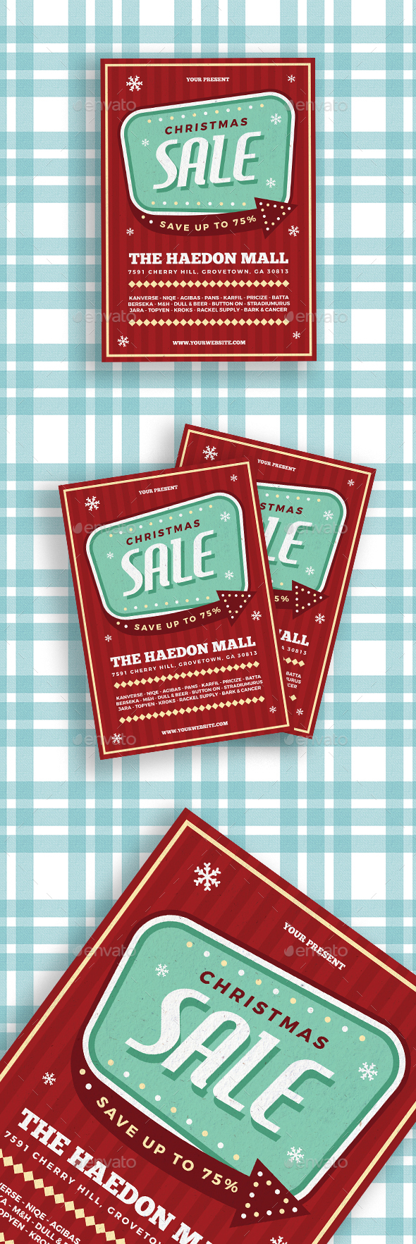 Retro Christmas Sale Flyer - Commerce Flyers