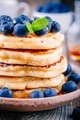 Delicious pancakes with fresh blueberries and honey - PhotoDune Item for Sale
