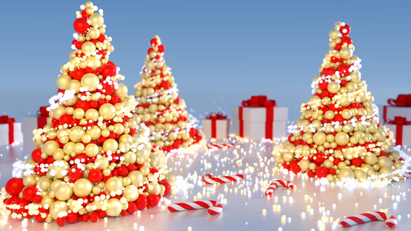 VideoHive Abstract Christmas Tree 5 versions 21023603