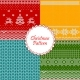 Christmas Knitted Patterns - GraphicRiver Item for Sale