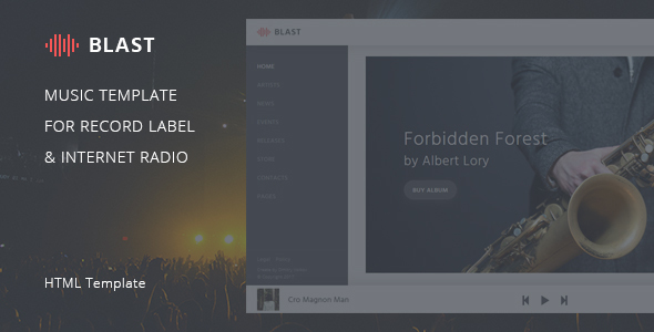 Blast – Music Template for Record Label & Internet Radio