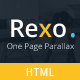 Rexo - One Page Parallax - ThemeForest Item for Sale