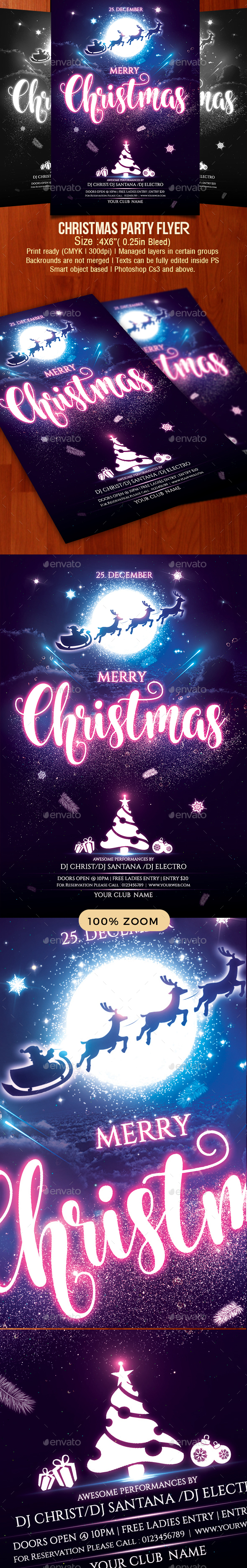 GraphicRiver Christmas Party Flyer 21023856