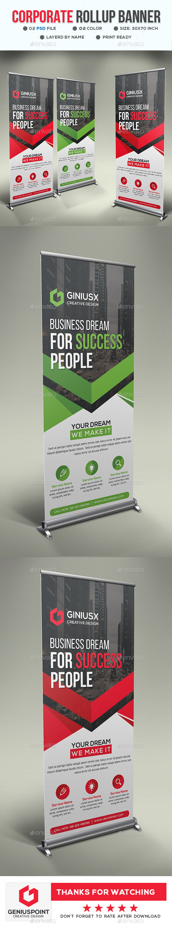 GraphicRiver Corporate Roll-Up Banner 21023869
