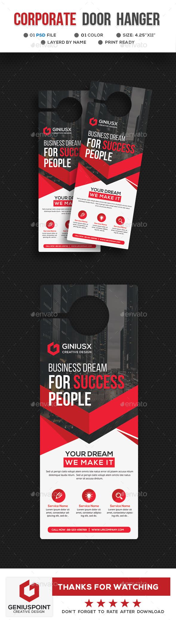 GraphicRiver Corporate Door Hanger Template 21023930