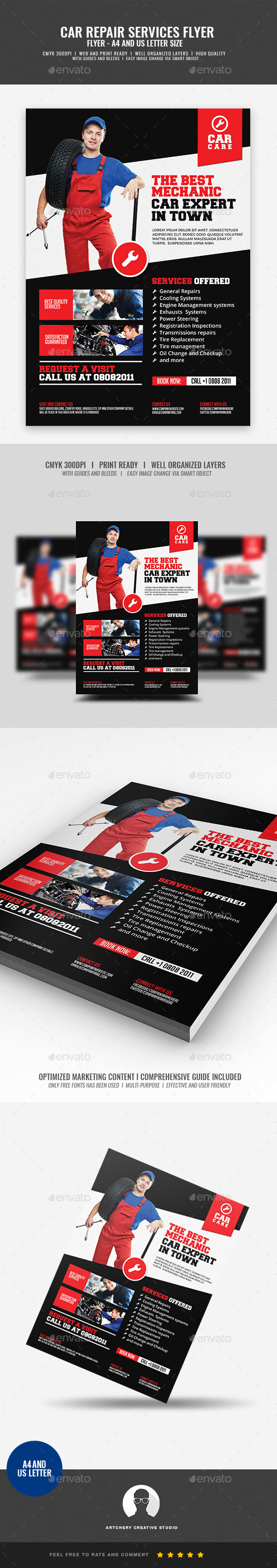 GraphicRiver Car Mechanic Promotional Flyer 21023946