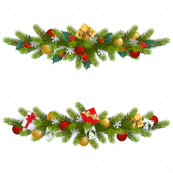 Vector Christmas Fir Decoration - Christmas Seasons/Holidays