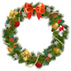 Vector Christmas Wreath with Mistletoe - GraphicRiver Item for Sale