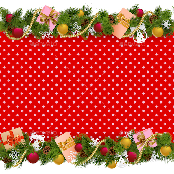 Vector Festive Christmas Background - Christmas Seasons/Holidays