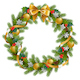 Vector Fir Wreath with Mistletoe - GraphicRiver Item for Sale