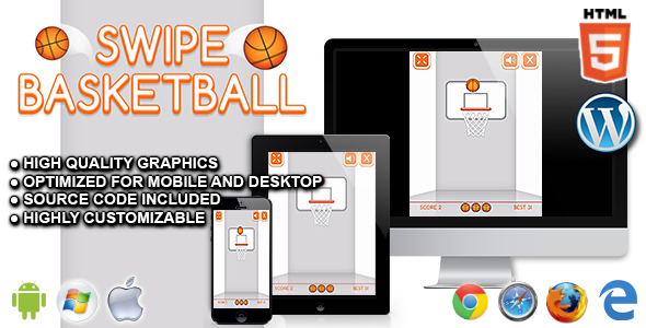 Download Swipe Basketball - HTML5 Sport Game