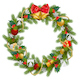 Vector Fir Wreath with Red Mistletoe - GraphicRiver Item for Sale