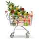 Vector Supermarket Cart with Christmas Tree - GraphicRiver Item for Sale