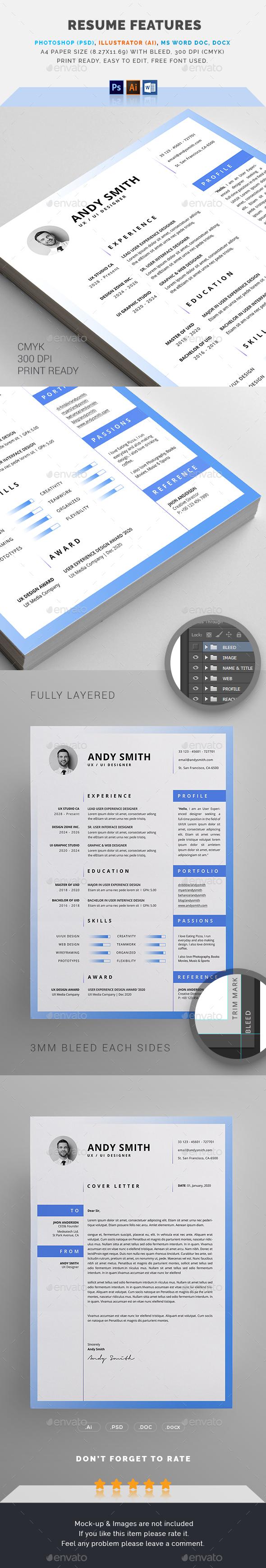 GraphicRiver Resume CV 21024212