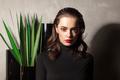fashionable female in dark vintage interior - PhotoDune Item for Sale