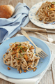 Whole wheat tagliolini with mushrooms Porcini - PhotoDune Item for Sale