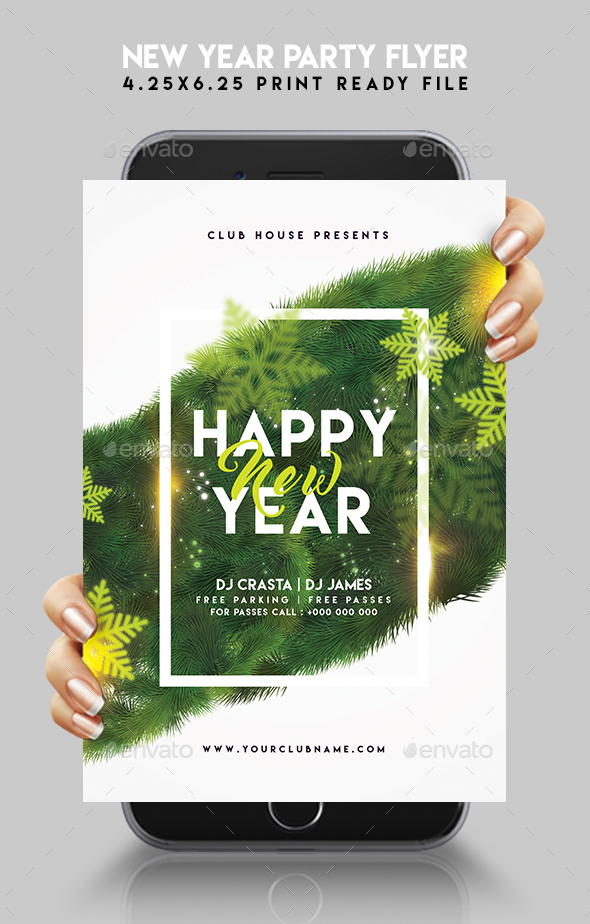 GraphicRiver New Year Party Flyer 21024422
