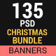 Christmas Big  Banner Bundle (09 sets) with Instagram Templates - GraphicRiver Item for Sale
