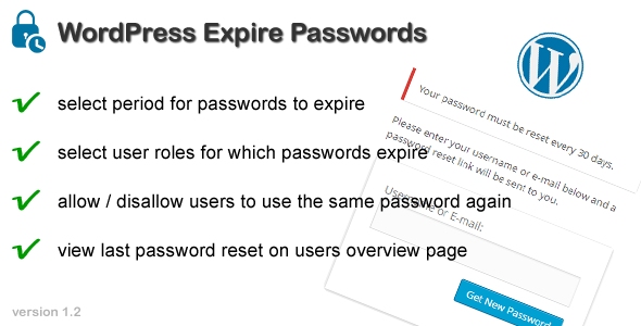 WordPress Expire Passwords - CodeCanyon Item for Sale