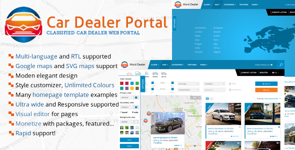 Car Dealer Listings Directory - CodeCanyon Item for Sale