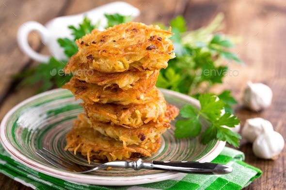 Fried potato pancakes - Stock Photo - Images
