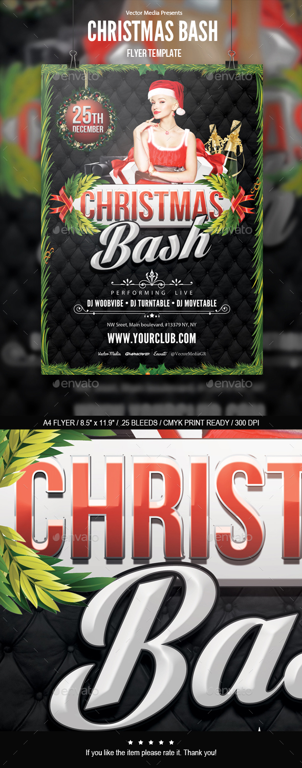 Christmas Bash - Flyer - Clubs & Parties Events