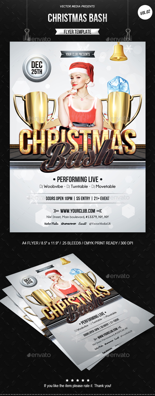 Christmas Bash - Flyer [Vol.2] - Clubs & Parties Events