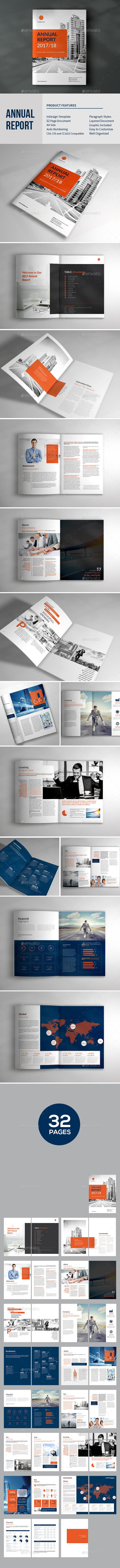 Annual Report Template Brochure - Brochures Print Templates