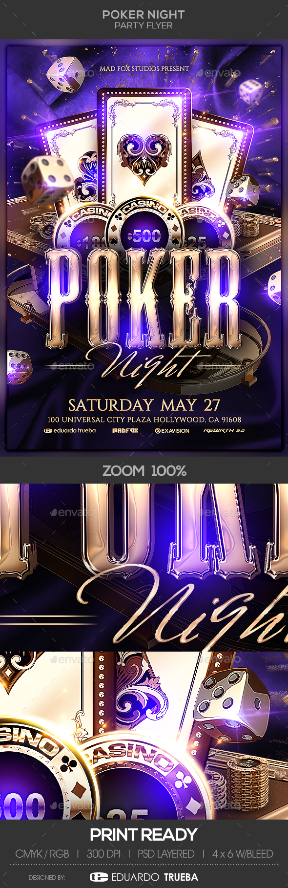 GraphicRiver Poker Night Party Flyer 21025163