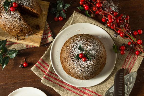 Sweet Homemade Christmas Figgy Pudding - Stock Photo - Images