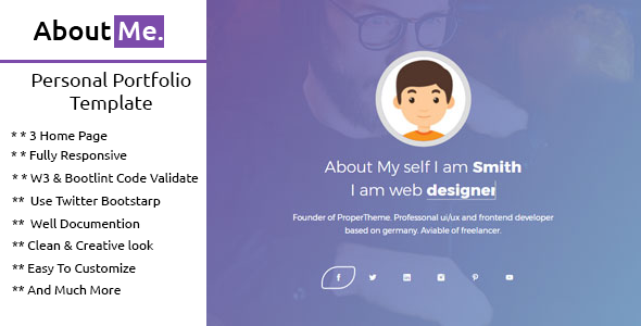 Image of AboutMe | Personal Portfolio Template