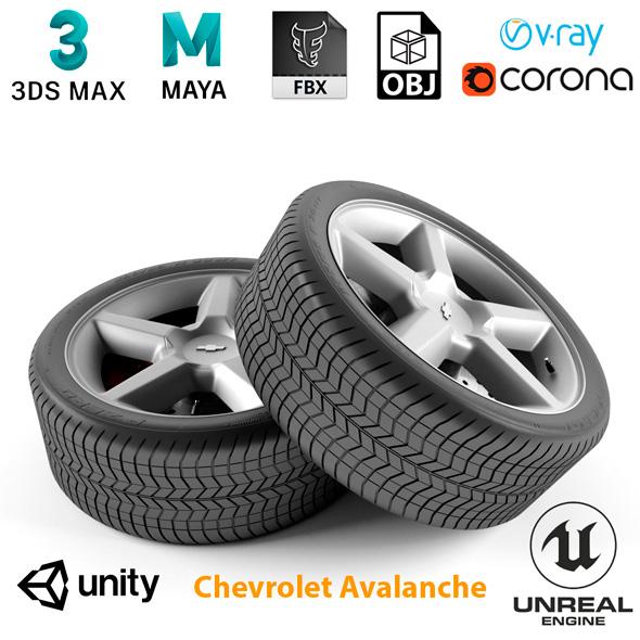 Chevrolet Avalanche Wheel - 3DOcean Item for Sale