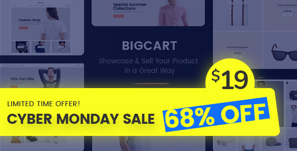 Bigcart - Clean, Modern WordPress Theme for WooCommerce