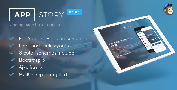Image of AppStory - Mobile App & e-Book Landing Page