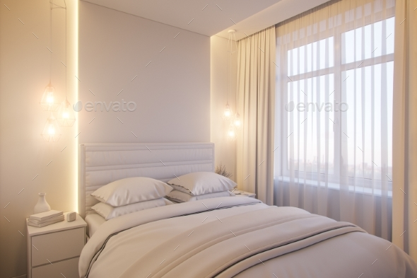 GraphicRiver 3D Render of an Interior Design of a White 21025485