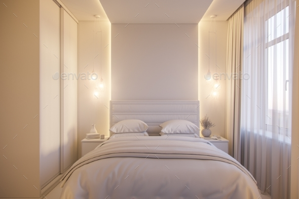 3d Render of an Interior Design of a White - 3D Backgrounds